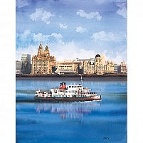 Royal Iris Mersey Ferry and Liverpool Waterfront