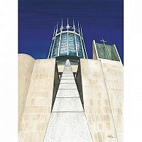 The Liverpool Catholic Cathedral (or Metropolitan Cathedral)