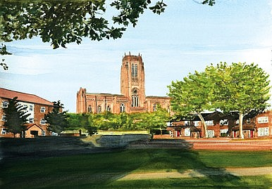 Anglican Cathedral from Chinatown