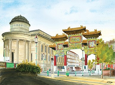 Chinatown and the Chinese Arch Liverpool