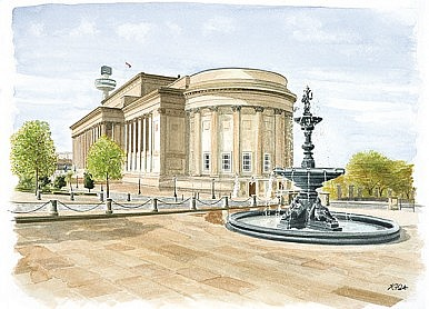 St Georges Hall and Steble Fountain