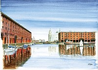 The Albert Dock and The Liver Buildings
