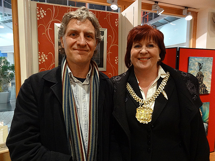 Keith F Smith and Lord Mayor Sharon Sullivan